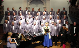 Photo of the choir at the Tabernacl in Machynlleth